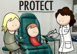 Screen shot of the WHO's video for World Vaccination Week.