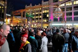 Thousands of Northeast Ohioans crowded Playhouse Square to see the chandelier lighting