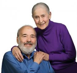 Reuben and Dorothy Silver pose for their Benjamin Rose Institute profile in 2009
