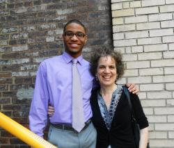 Tyree Stewart with Laura Paglin, director of the PBS documentary, 'Facing Forward' (pic by Brian Bull)