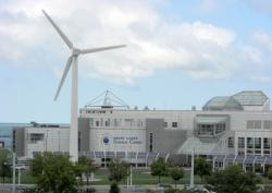 Wind turbine at the Great Lakes Science Center. Photo: cleong on Flickr https://www.flickr.com/photos/cleong/3354861754/