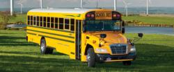 Forty-nine new Blue Bird Vision buses are part of the Cleveland school district's new fleet. Photo by Blue Bird Corp.