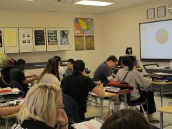 An eighth grade social studies class in Lorain, Ohio (photo by Bill Rice)