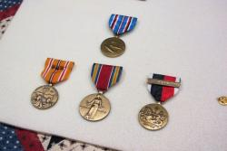 The service medals and decorations Heba earned for his Navy service from 1944-1946 (pic by Brian Bull)