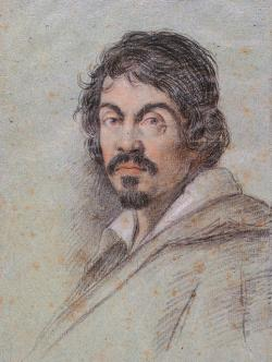Portrait of Michelangelo Merisi da Caravaggio by his contermporary Ottavio Leoni