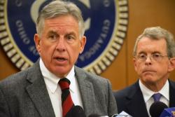Cuyahoga County Prosecutor Timothy McGinty announces charges at a May 2014 press conference. (Nick Castele / ideastream)