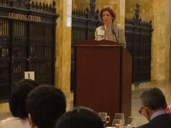 Loretta Mester, who becomes the Federal Reserve Bank of Cleveland's new chief on Sunday, speaks at the conference.