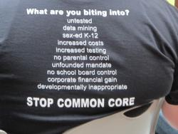 Ohioans Against Common Core T shirt (photo by Bill Rice)