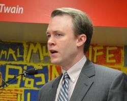 FitzGerald speaks at an unrelated March 2014 event unveiling a Cleveland preschool program. (file photo by Nick Castele)