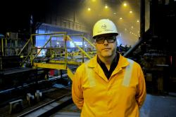 John Wilkinson, Plant Manager at U.S. Steel's Lorain, Ohio plant (pic: Brian Bull)