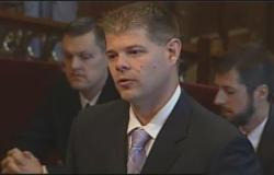 Attorney Peter Galyardt, who represents David Laber, argues before the Ohio Supreme Court. (Ohio Channel)