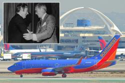 Southwest founders Herb Kelleher (L) and Rollin King (R); Southwest jet (pics from blogsouthwest.com and Aero Icarus)