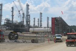 The Harrison Hub complex, near the village of Scio, processes natural gas from horizontal shale wells in eastern Ohio.