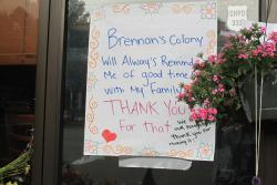 Posters thanked Brennan for bringing the community togather through hospitality.