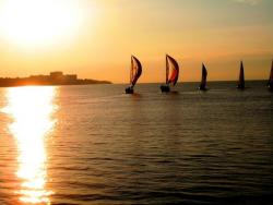 Sailboats on Lake Erie (photo by Brian Bull)
