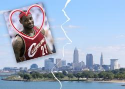Can this old valentine be fixed? (LeBron James photo by flickr.com's Keith Allison; city photo by Brian Bull)