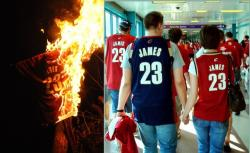 A burning 23 jersey, fans wearing same (Mark Urycki, flickr.com's dchrisoh)