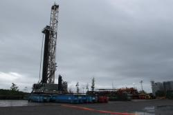 A shale drilling rig.