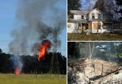 The Lapchynski House  - built in the 1880s - had been vandalized (top right) before it was burned to the ground (NPS)