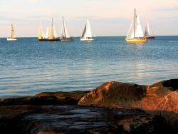 Sailboats on Lake Erie outside of Cleveland (pic: Brian Bull)