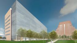 An artist's rendering of the building's exterior. Credit: William Rawn Associates, Architects, Inc. and Stantec