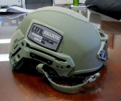 Closer view of Team Wendy's ExFil Ballistic Helmet.  Each one retails for $962.  (pic: Brian Bull)