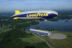 The new blimp is named after the lake resort that the company once owned but recently donated to the state of Ohio.