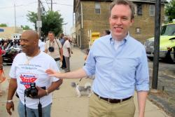 Ed FitzGerald, Democratic gubernatorial candidate, at Cleveland's Labor Day parade (pic: Brian Bull)