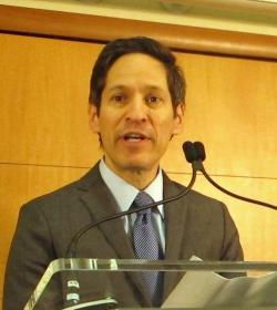 Dr. Thomas Frieden, of the CDC, at the Cleveland Clinic today (pic: Brian Bull)