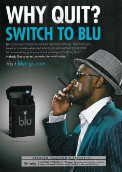 An advertisement by Blu Cigarettes. Photo Source: http://www.trinketsandtrash.org/