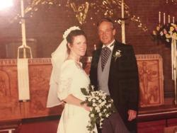Bob & Kathy Schreiber on their wedding day.