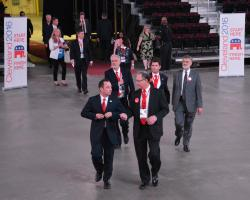 RNC Chairman Reince Priebus tours the Q during a visit last year in Cleveland.