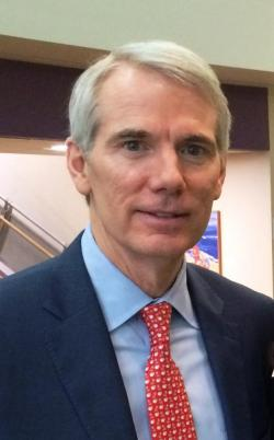 Ohio Senator Rob Portman at UH (photo: Brian Bull/ideastream)
