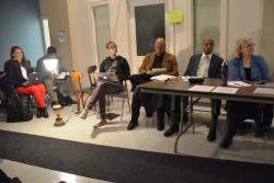 A working group from Cleveland's community-police commission met on the city's west side.