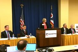 Jon Husted, Josh Mandel, Dave Yost and Mike DeWine spoke at a forum this week.