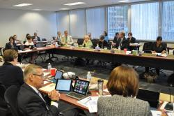 The Ohio Board of Education holds a meeting in 2015.