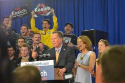 Ohio Gov. John Kasich speaks to supporters after winning the March 15 primary.