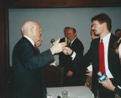ideastream's Mark Urycki Interviews Sen. John Glenn in 1998 at the Akron Roundtable