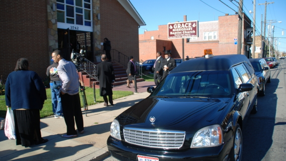 The funeral service for murder victim Telacia Fortson was held at Grace Missionary Baptist Church