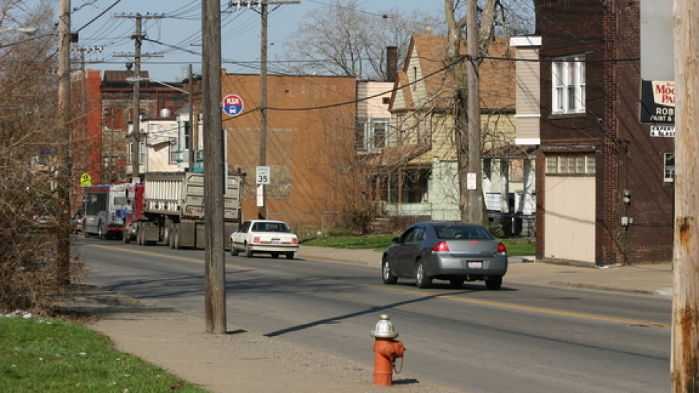 Across Slavic Village, you can see where businesses used to reside. Many have long since left.