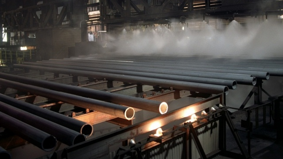 The steel uptick is partly driven by in-demand 'fracking' pipes made by V&M Star and other steel makers. (V&M pic)