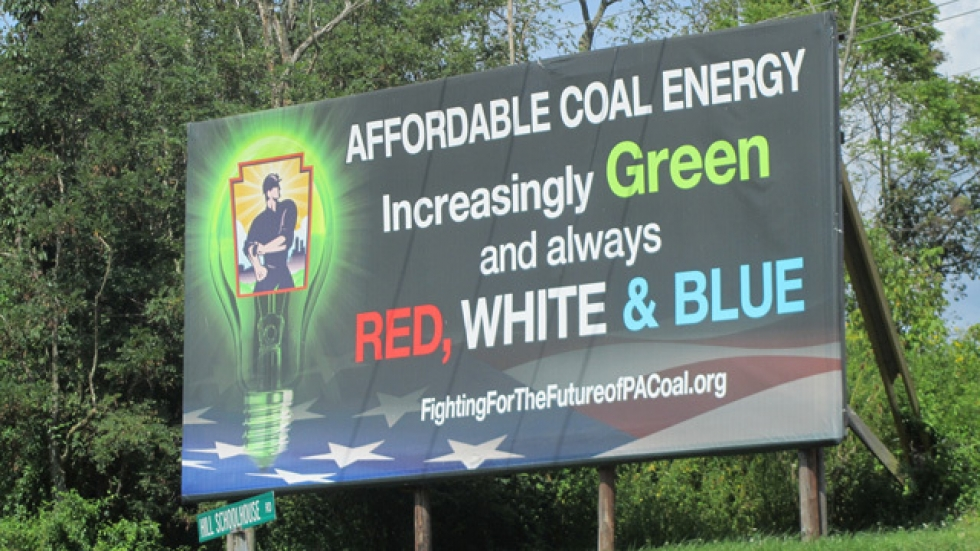 Billboards like this dot the hillsides along the PA Turnpike.