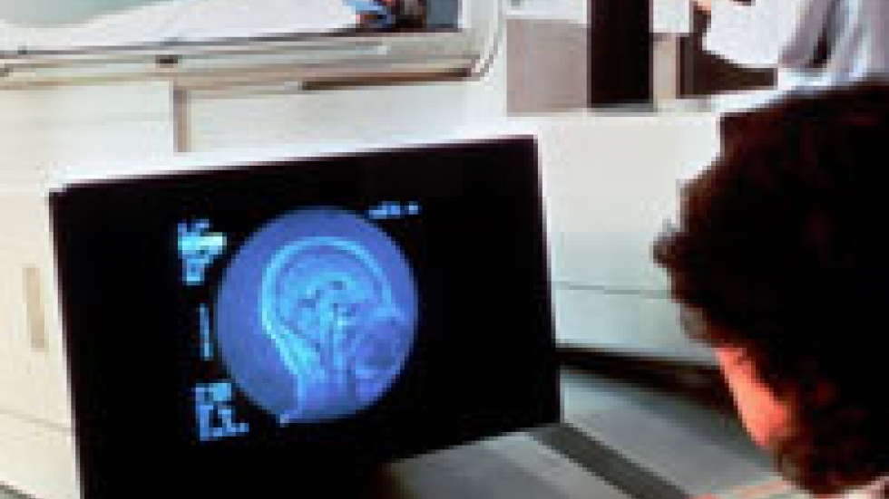 A patient is undergoing an MRI scan to look for signs of a stroke. Credit - NIH Image Bank.