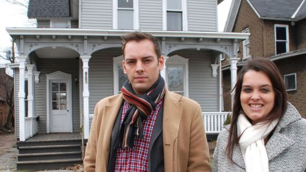 Michael Fleming & Andrea Bruno of St. Clair-Superior and the loft house on E. 47th Street