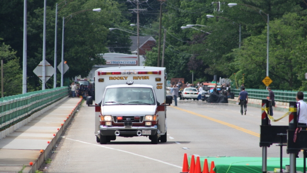 The closed set did open for local ambulance traffic traveling to Kamm's Corners (pic by Brian Bull)