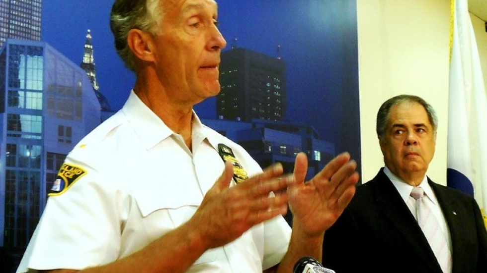 Cleveland Police Chief Michael McGrath, at today's press conference (photo by Brian Bull)