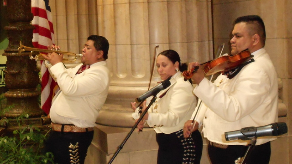 Mariachi band performing in downtown Cleveland (pic by Brian Bull)