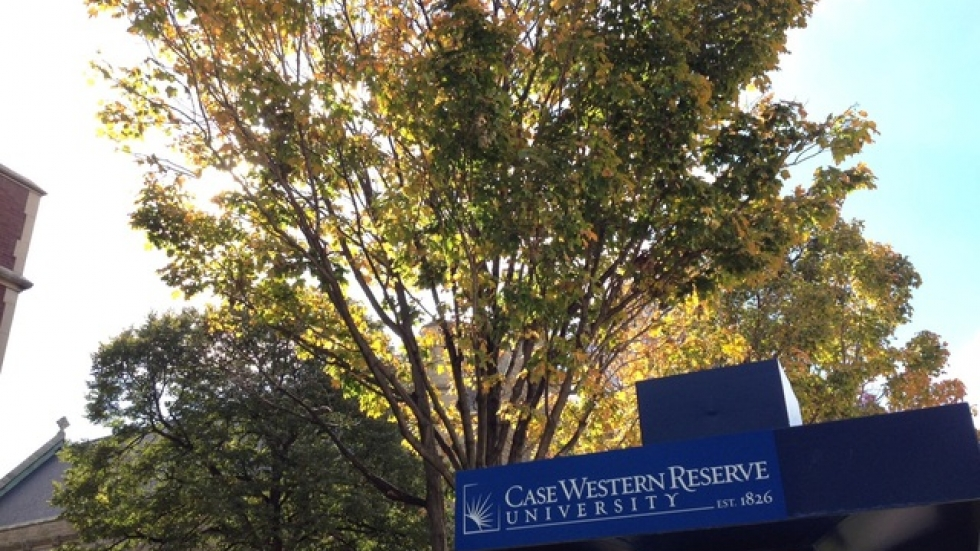 Fall foilage at Case Western Reserve University. (Photo by Sarah Jane Tribble)