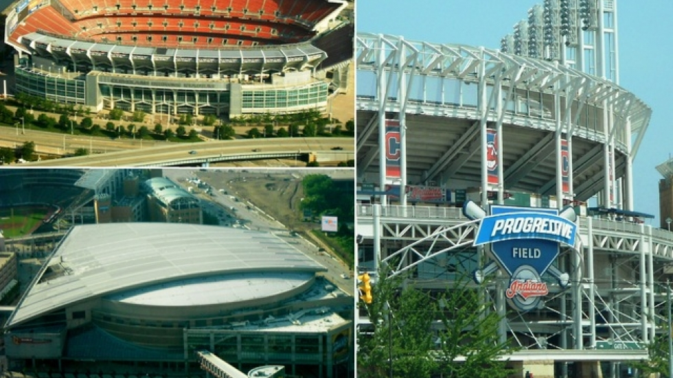 The stadium, field, and complex where the Browns, Cavs, and Indians play before sports fans (pic: Brian Bull)