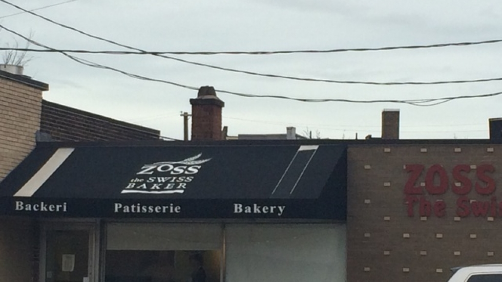 Tucked off Cedar Rd, the Zoss's bakery is small but well-trafficked.